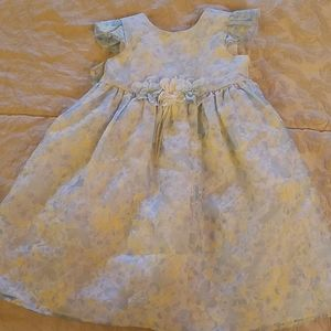 George light blue and yellow dress
